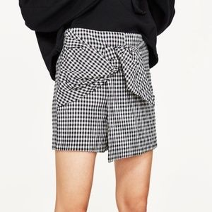 Zara Basic Collection Mini Plaid Skort
